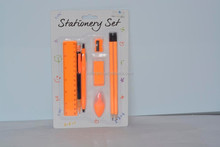 8pcs Neon stationery set, includes