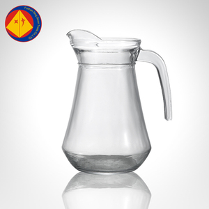 Tasty juice hot cold water glass jug with lid