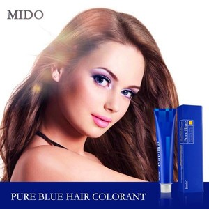 100ml shiny long-lasting effect dark blue color hair dye