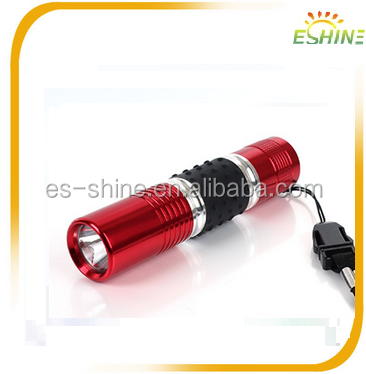Portable Led Flashlight keychain with lighter Fashionable Handmade Bamboo Torch