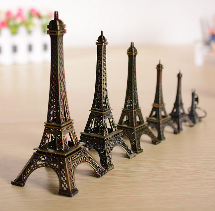 wholesale home decoration kinds of size Eiffel Tower metail art craft