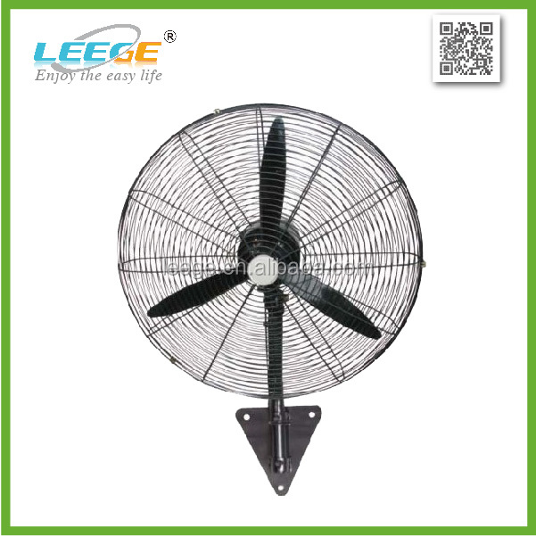 "FW-500 18"" 20"" 26"" 30"" 90 degree oscillating metal electric industrial wall fan"