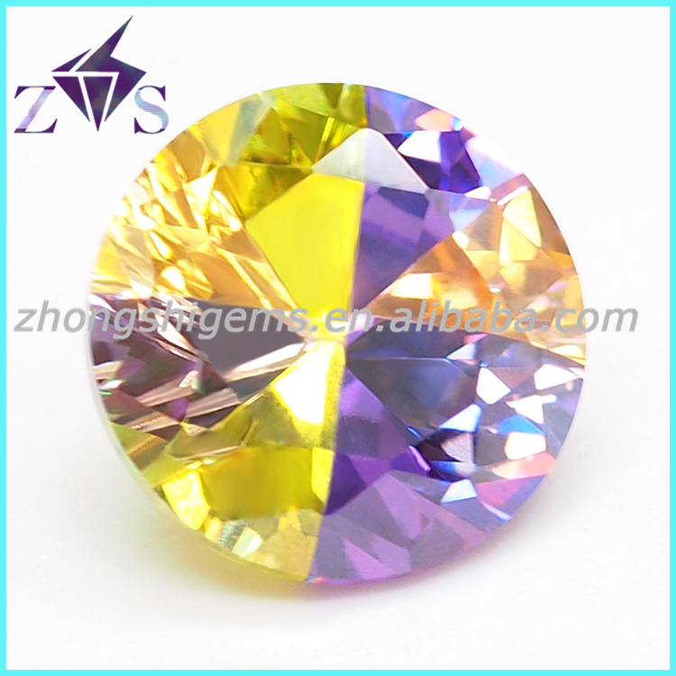 Fashinable Round Cut Mix-colored Synthetic CZ Gemstone for Jewelry
