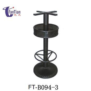 Hot Sale Outdoor Black Metal Pedestal Trestle Antique Cast Iron Table Base  Table For Granite Tops