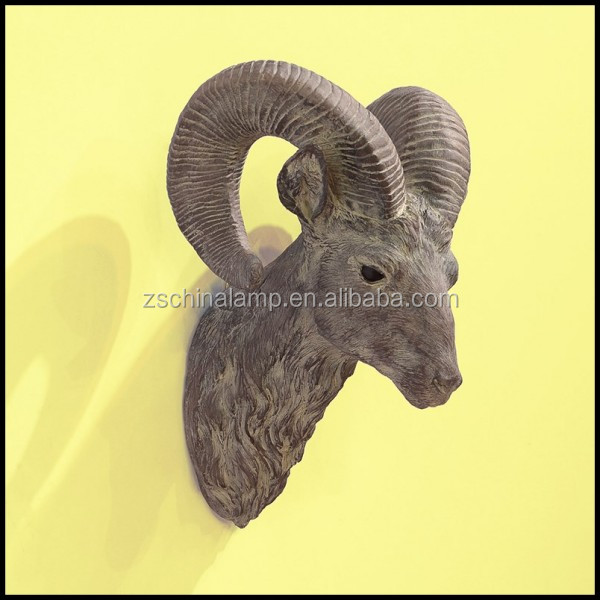 Resin Sheep Head Figure 3D Wall Art Decor With Diverse Animal Make Home Decor Craft Ideas For Used Hotel Lobby Furniture