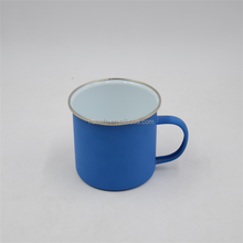 Olive Orange Blue Green Pink Enamel Mugs with stainless steel 304