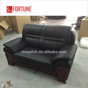 Good S Heavy Duty Black Leather Sofa Foh 6627