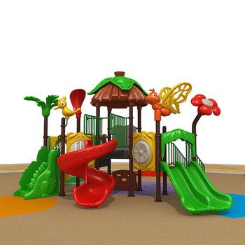 2018 Forest Style Wood Kid Indoor and Outdoor Playground Equipment Combination Slide For Preschool