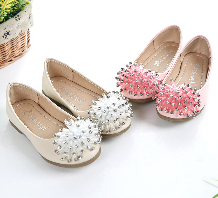 ff13630a59e89 Get Quotations · Princess Party Shoes Girls Fashion Shoes Kid s Wedding  Shoes Crystal Flower Teen Girls Shoes Size 26