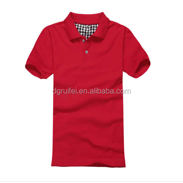 Fashion Design Plain Color 100% Cotton Polo T Shirt Made In China