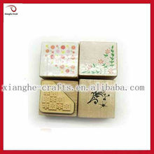 educational rubber stamp and ink pad