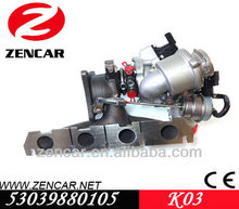 Application of Seat turbo charger k03 for Leon 2.0L TFSIE with BWA - BPY Engine
