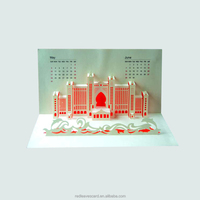Guangzhou factory Haiying OEM paper craft customized 3d pop-up card