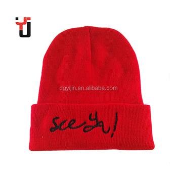 014a23ed Custom Ski Masks Red CC Hat Girls Hot Sex Image Knitted Winter Hat Design  your Logo
