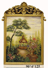 Luxurious Wall Art Rectangle Framed Landscape Painting for Lobby Deco BF11-02131a