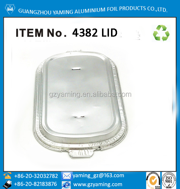 foil container lid for disposable aluminium foi pan inflight airline casserole foil container item 4382