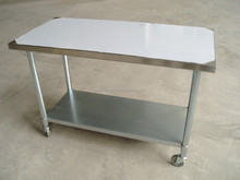 stainless steel work table with wheels