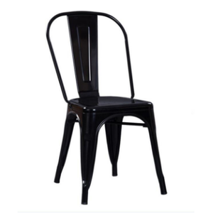 Best Price Wholesale Modern Industrial Style Stackable Dining Cafe Restaurant cafeteria bistro iron metal chair