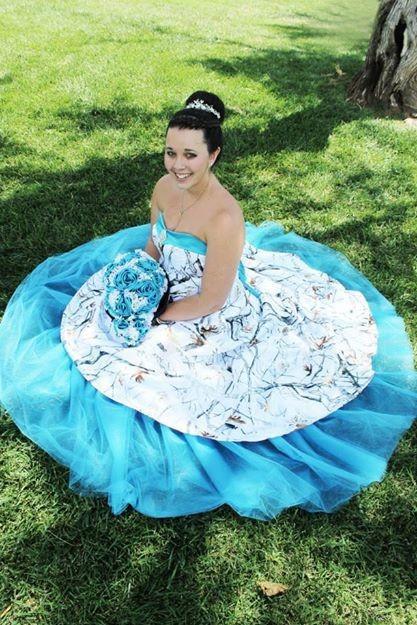 Pink Camo Wedding Dresses For