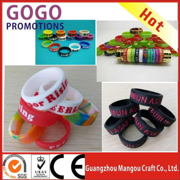 OEM/ODM silicone vape band manufacturer Mangou cheap rubber Vapor bands for e cig vape tank/mods/vaporizer