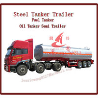 utility trailer 3-axle fuel tanker trailer ,oil tanker trailer
