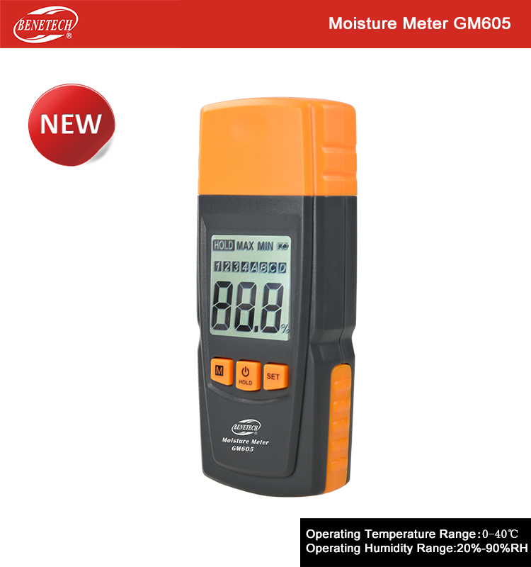 Protective moisture meter , GM605 moisture meter for wood fiber construction