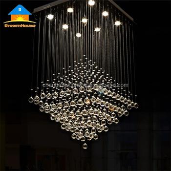 Modern Led Chandelier Living Room Dining Room Crystal Chandelier Square Fancy Light For Project Buy Modern Led Chandelier Living Room Dining Room