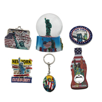 New york Souvenir Gift set snow globe keychain bottle opener fridge magnet