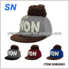 high quality custom 5 panel snapback hat with pom