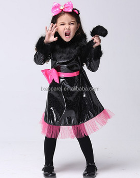 S-XL lovely black kitty cosplay costume little girls halloween cosplay costume  sc 1 st  Alibaba & S-xl Lovely Black Kitty Cosplay Costume Little Girls Halloween ...