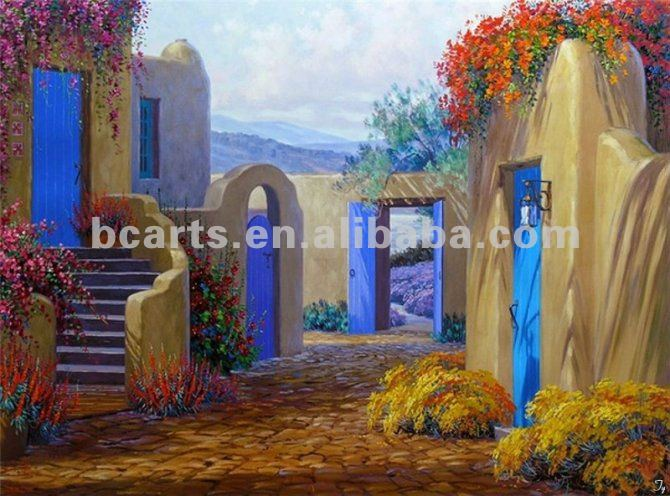 Tuscany Scenery Secret Intrigue Garden Oil Paintings
