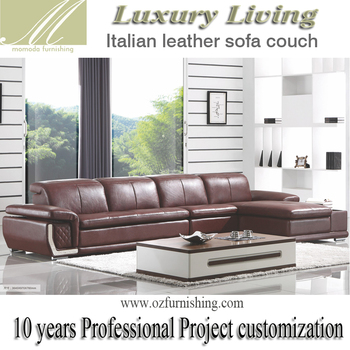 Remarkable Dz801 Special Modern Luxury Living Furniture Italy Brown Leather European Style L Shape Sectional Living Room Sofa Set View Modern Grey Leather Home Interior And Landscaping Thycampuscom