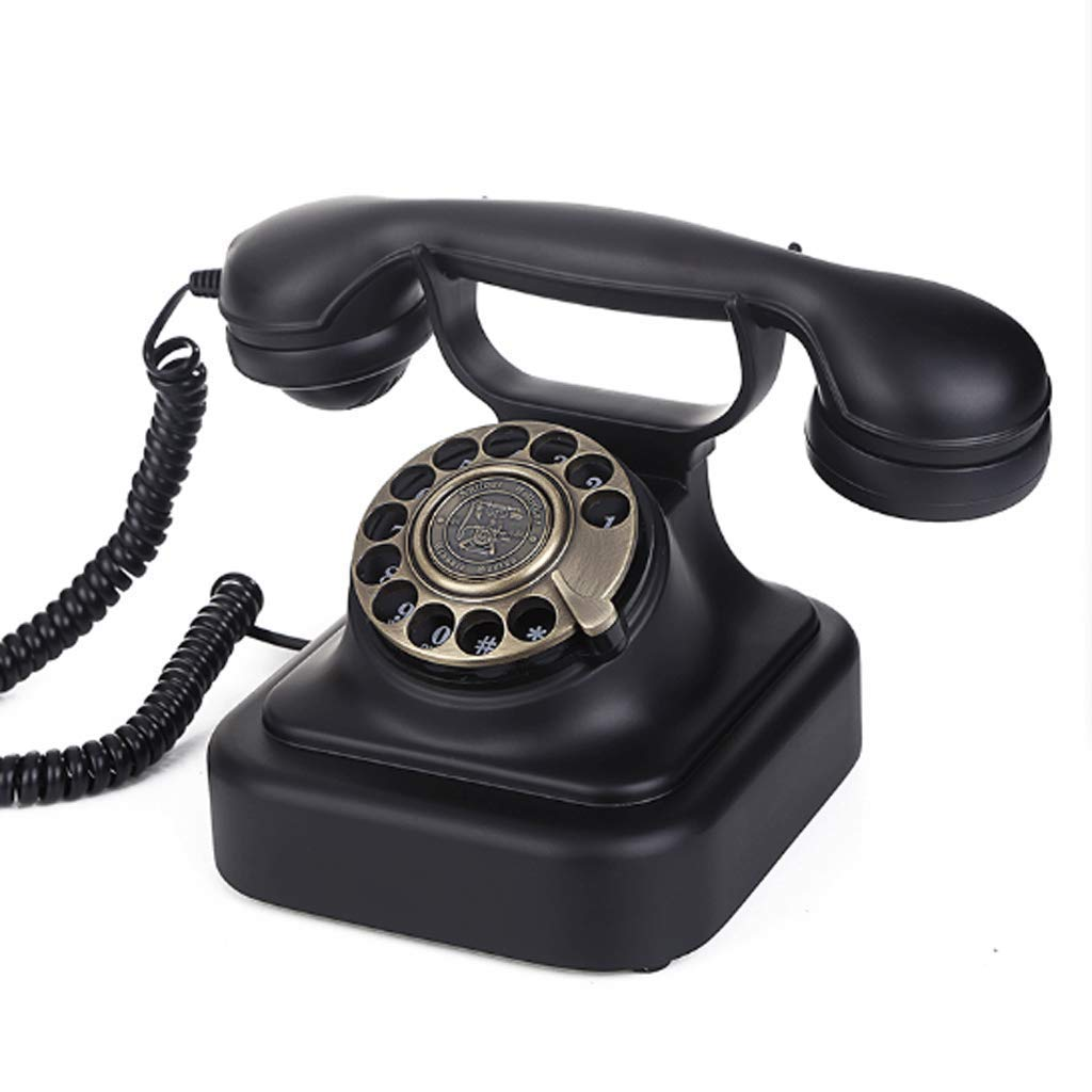 CHX Antique Rotating Dial Telephone Classic Landline Used for Household Business Decoration CHXV (Color : Rotary Dialing)
