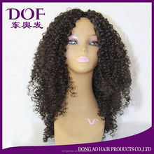 Cheap wholesale hot selling fashionable custom short Afro kinky curl front lace wig for black women