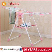 Heavy duty foldable clothes airer bedroom baby clothes rack