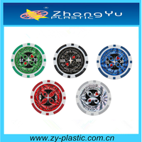 clay 13.5g poker chips with laser sticker