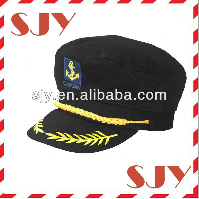 cd238ad1 Custom Gold Embroidery Fashion Captain Hat Wholesale Yacht Cap - Buy ...