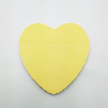 Hot Promotional Eco-friendly Paper Heart Shaped Stick Note High Quality Small Packet Sticky Note With Customized Logo
