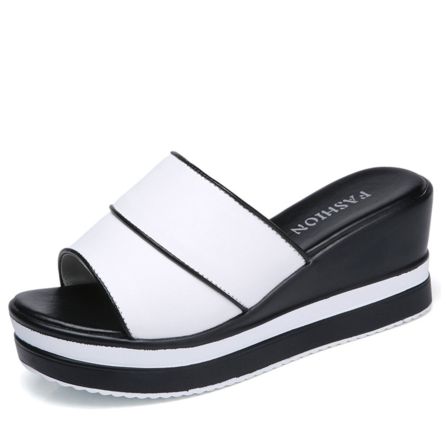 Btrada Womens Open Toe Platform Slides Summer Ladies Beach