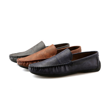PU men leather men loafers driving