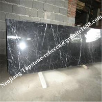 Gold supplier china best selling black and white marble flooring tiles