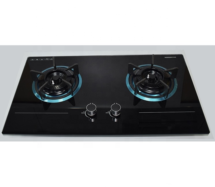 SG27304 2 burners temper glass gas cooker steel burner cooktop with cheap price