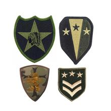 Factory wholesale custom clothing logo embroidery military arm patches