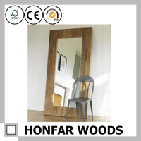 Fitting room mirror frame wooden frames mounted wall decoration