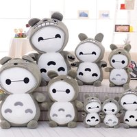 Candice guo Hot sale big white fat Baymax changed to Totoro Plush Toys Stuffed Dolls children