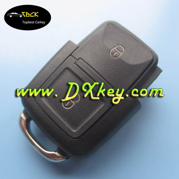 Topbest 2 knop afstandsbediening autosleutels unit 433 MHZ voor autosleutel 2 knop vw 1J0 959 753 AG