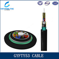 GYFTY53 outdoor stranded Central FRP member PSP armored fiber cable online shopping