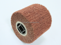 Abrasive buffing sanding Wire drawing non woven flap wheel