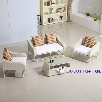 Hangkai Outdoor All Weather 4 Seater Rattan Garden Sofa Set