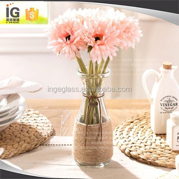 500 ml botella de vidrio transparente de flores hidrop nico jarr n precio barato jarrones de - Vidrio plastico transparente precio ...